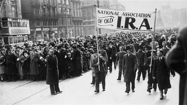 Les commémorations de l'insurrection de Pâques, à Dubin, le 10 avril 1939.