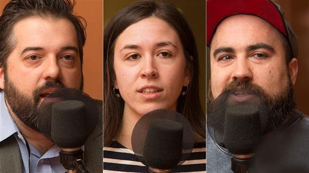 Antoine Ross Trempe, Aurélie Lanctôt et Jonathan Roberge