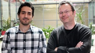 PhD candidat Amirsaman Sajad (L) and professor Doug Crawford (PhD) Of York U, toronto