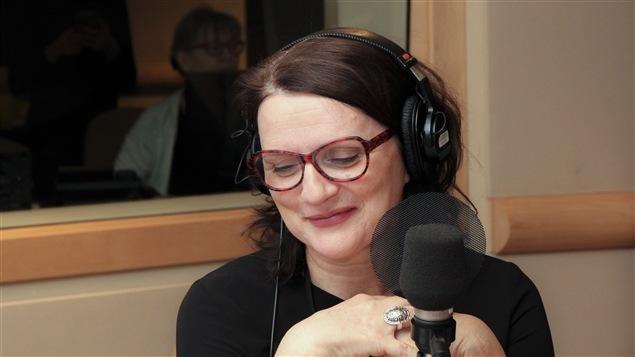 La com�dienne et chanteuse Marie-Th�r�se Fortin