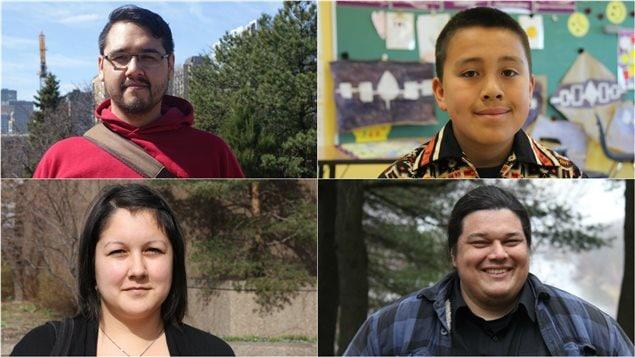 Stephen Puskas, 33 ans, Rotshennòn:ni TwoAxe, 11 ans, Éliane Grant, 25 ans, et Alexis Wawanoloath, 33 ans, sont quatre des jeunes Autochtones rencontrés par Hugo Lavoie pour sa série sur leurs rêves et leurs espoirs.