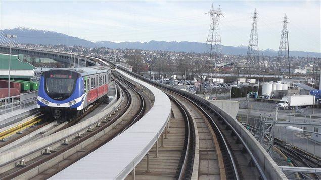 Le skytrain à Vancouver.