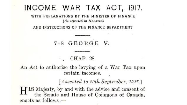 The original tax act of 1917, a temporary tax to finance the war effort.