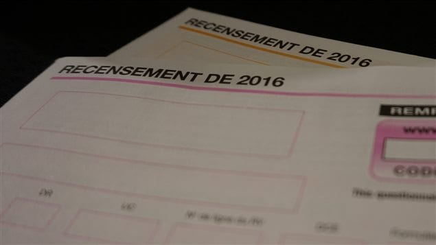 Questionnaires du recensement de 2016 de Statistique Canada.