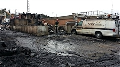 Un incendie majeur a laissé un trou béant au centre-ville de Saint-Raymond dans Portneuf. Entrevue avec le maire Daniel Dion.