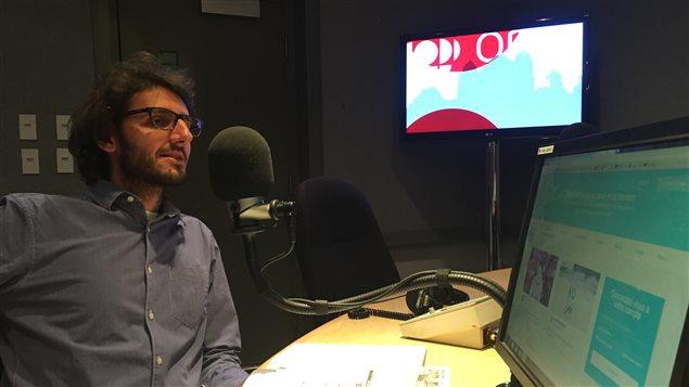 Jeremie Abessira, responsable de la programmation du Festival du film juif de Toronto.
