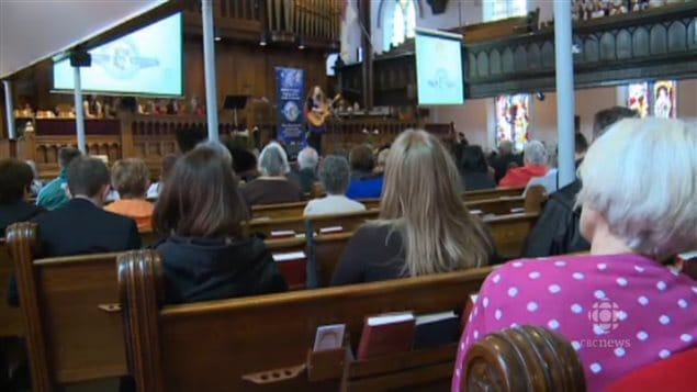 Meaghan Blanchard was among many well-known maritime artists performing at Trinity Church in Charlottetown, Prince Edward Island, along with school choirs in celebration of Music Monday in 2015