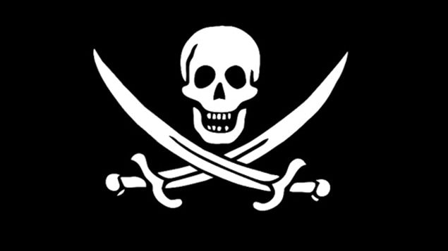 There were actually quite a few variations on pirate flags, many featuring a skull with crossbones, or swords, or a skeleton, or others widely different.