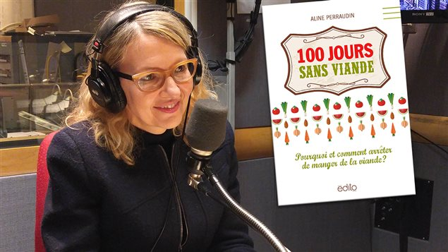 Aline Perraudin, auteurs de <em>100 jours sans viande : pourquoi et comment arrêter la viande?</em>