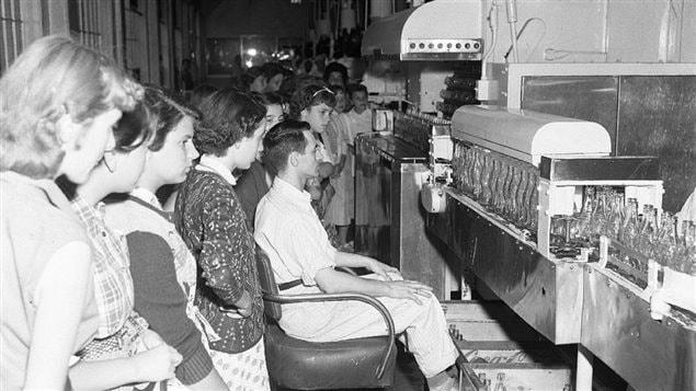 Une visite chez Coca-Cola à Montréal en 1954