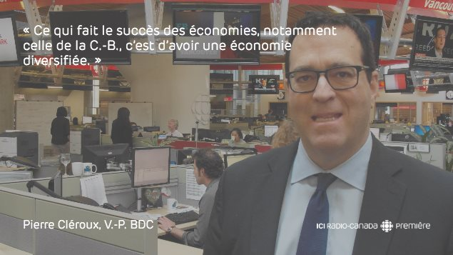 Pierre Cléroux, V-P et économiste en chef de la Banque de développement du Canada, Midi Express , Vancouver