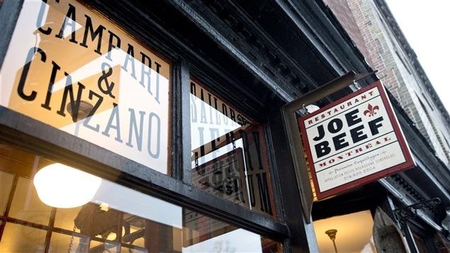 Le restaurant Joe Beef, à Montréal, est reconnu partout dans le monde.