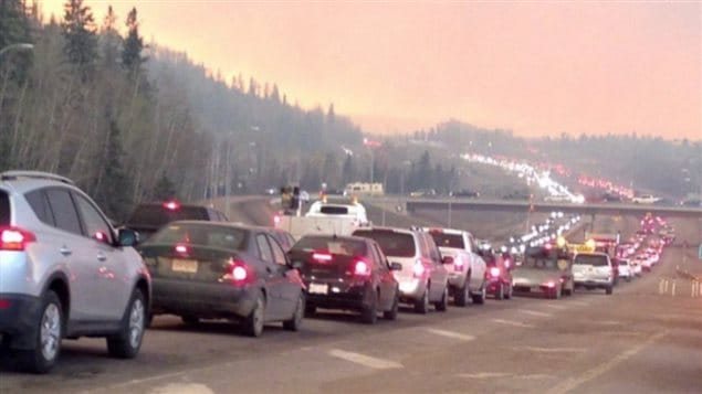 Highways became gridlocked as residents rushed to get out and the entire city was placed under a mandatory evacuation order. Fuel supplies in the city dried up as people filled their tanks.