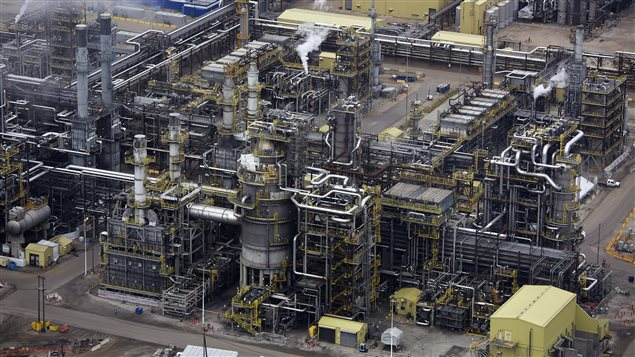 The processing facility at the Suncor tar sands operations near Fort McMurray, Alberta, September 17, 2014.