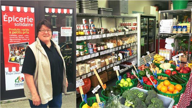 Sylvie Rouillard s'occupe de l'�picerie solidaire dans Pointe-St-Charles. Le service pourrait �tre compromis si l'organisme ne trouve pas de locaux abordables.
