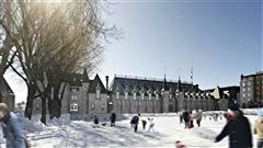 Un an après le début des travaux de reconstruction du Manège militaire de Québec, le nouveau bâtiment prend forme et devrait être complété selon les échéanciers.