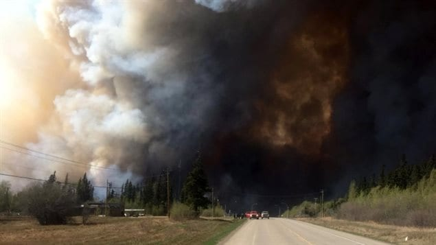 This wildfire north of Fort St. John is one of several burning in northern British Columbia province.