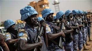 Casques bleus de la MISNUMA (Mission multidimensionnelle intégrée des Nations Unies pour la stabilisation du Mali)