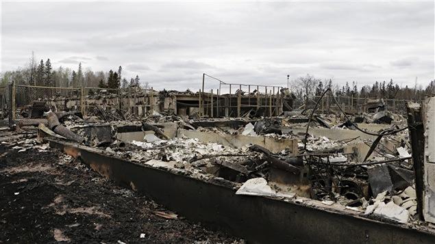 La ville de Fort McMurray en Alberta a été ravagée par les flammes.