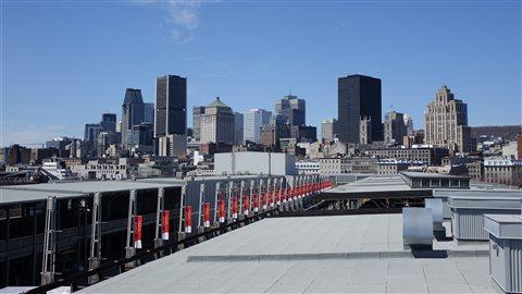 Vue sur le centre-ville de Montréal site de la prochaine ronde de négociations.