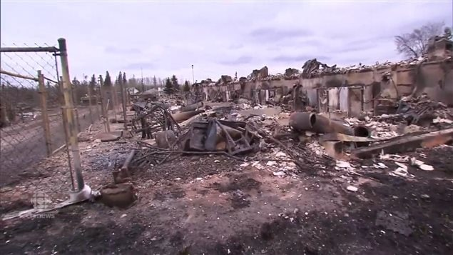 Much of the Fort McMurray neighbourhood known as Abasand was completely destroyed. Although some 2600 structures were burned, the downtown and several other areas were saved.