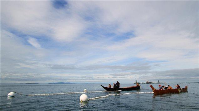 Le territoire de la Première Nation Lummi à Bellingham, près de la frontière entre les États-Unis et la Colombie-Britannique.