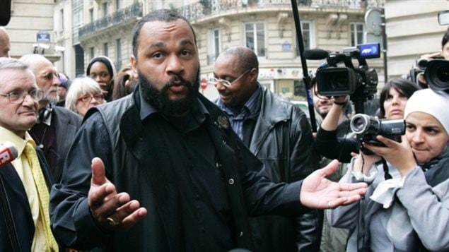 The French government has criticized Dieudonné's performances as anti-Semitic and racist. Earlier this week he was found guilty of hate speech in France.