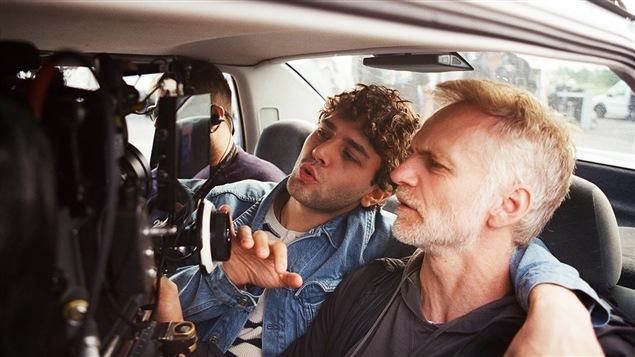 Le réalisateur Xavier Dolan et le directeur photo André Turpin sur le plateau de tournage de « Juste la fin du monde »