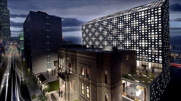 Le Mount Stephen Club situé sur la rue Drummond que le nouveau propriétaire transforme en hôtel.