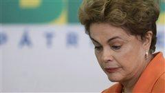 La présidente Dilma Rousseff au parlement brésilien le 4 mai 2016.