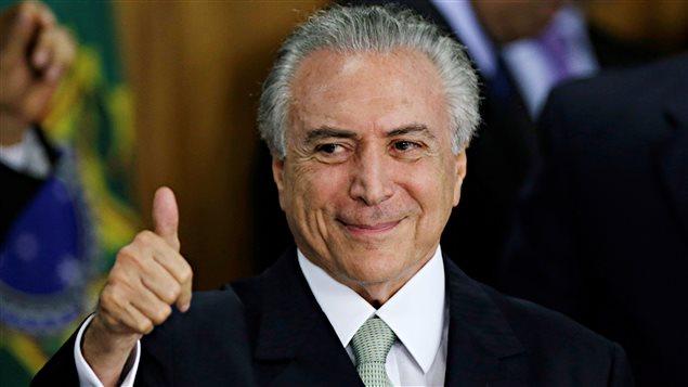 Le remplaçant de Dilma Rousseff, Michel Temer.