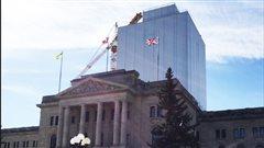 Le dôme du Palais législatif est en rénovation depuis près de deux ans