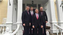 Les quatre premiers ministres des provinces de l'Atlantique. De gauche à droite: Stephen McNeil (Nouvelle-Écosse), Brian Gallant (Nouveau-Brunswick), Dwight Ball (Terre-Neuve-et-Labrador) et Wade MacLauchlan
