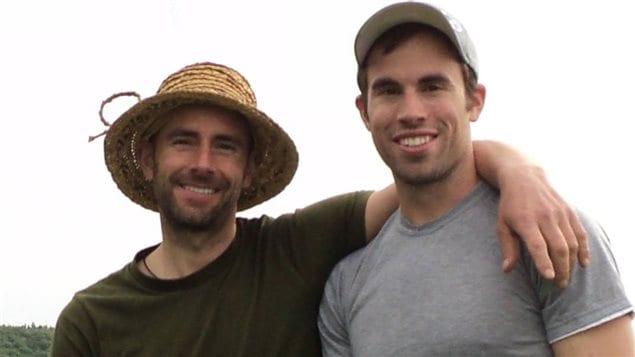 Les frères David et Samuel Gadoury de la Ferme Vallée Verte