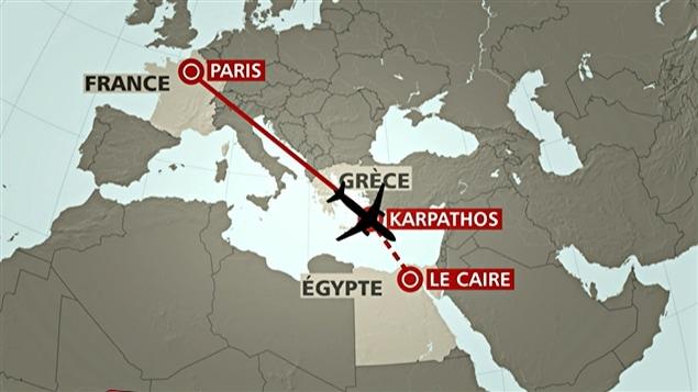 L'avion a disparu des radars au dessus de la Méditerrannée.