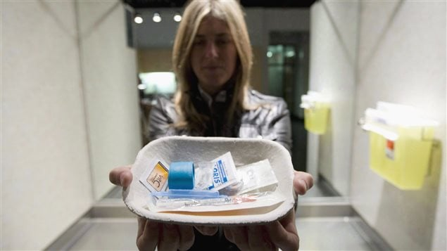 Safe injection kits are offered at a world-famous clinic in the western city of Vancouver. More such clinics are slated to open elsewhere in Canada to reduce overdose deaths and HIV infection.