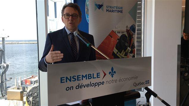 Jean D'Amour officialise la zone industrialo-portuaire de Matane