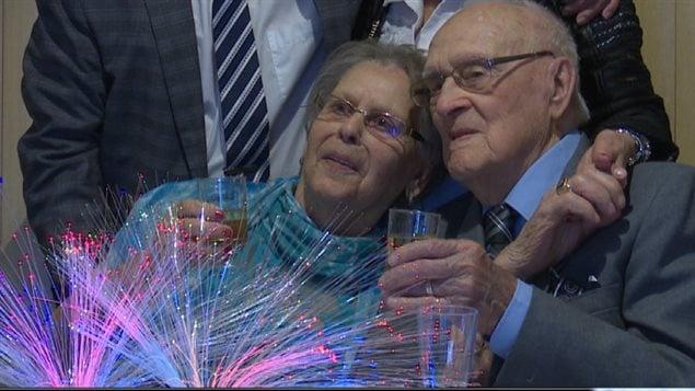Irène Thibeault et Léo Pinel, les tourtereaux de 92 et 99 ans
