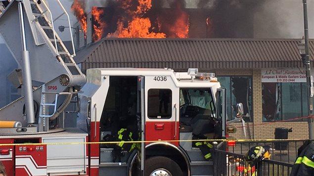 Un incendie a ravagé le restaurant Le Chef sur la rue Wyandotte.