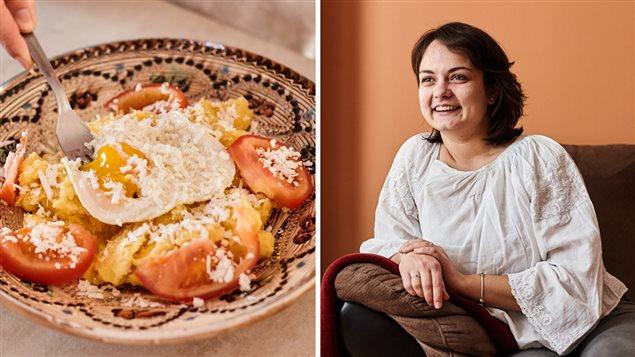 La mamaliga est un plat réconfortant pour Madalina Chesoi.