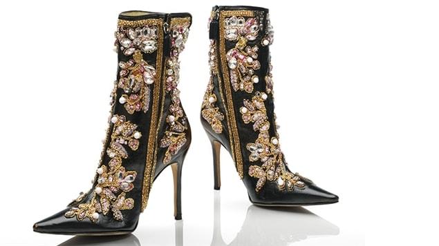 Bottillons du couturier Dolce et Gabbana présentés à l'occasion de l'exposition <i>Eleganza</i>, au Musée McCord