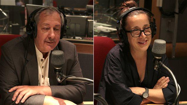 Le chef Philippe Mollé et la journliste Marie-Claude Lortie