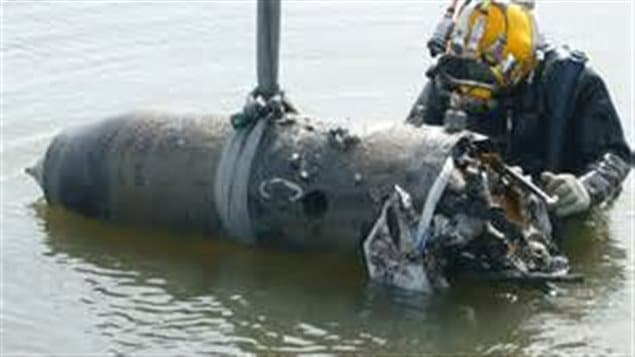 A modern aerial weapon found off the coast of Belgium. Just like in WWII, if they can't be launched over their target, planes can't return and land with armed bombs so they are jettisoned into the ocean or lakes.