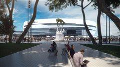 L'œuvre d'art public, La Rencontre, sera installée dans la place Jean-Béliveau.