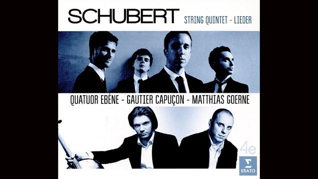 Pochette du disque </i>Schubert : String Quintet and Lieder</i> du Quatuor �b�ne, paru sous �tiquette Warner Classics