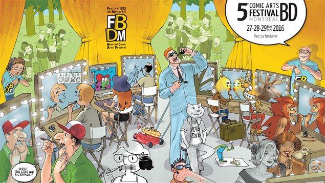 L'affiche du 5e Festival BD Montr�al