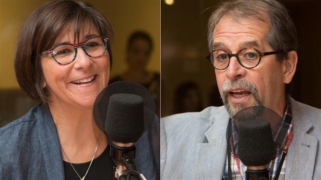 Marie Gr�goire et Camil Bouchard