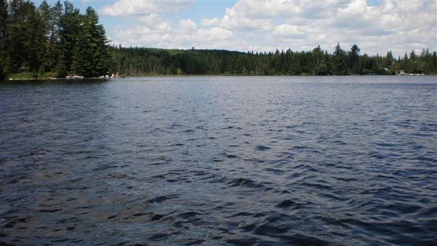 Canoe Lake, Algonquin Park, Ontario. showing the area where Thomson's body was found July 1917 and where a century of rumour, myth, innuendo, and veiled accusations of foul play began.