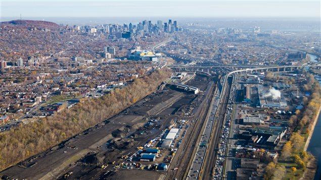 Une vue aérienne des travaux du nouvel échangeur Turcot