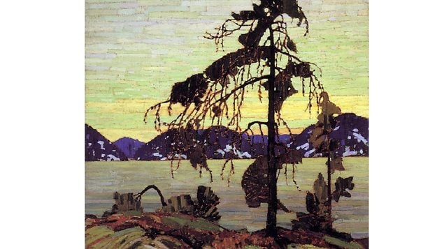 Tom Thompson- Jack Pine- one of his now famous paintings and an exciting change from the then prevalent European style of realistic-photo-like- landscapes